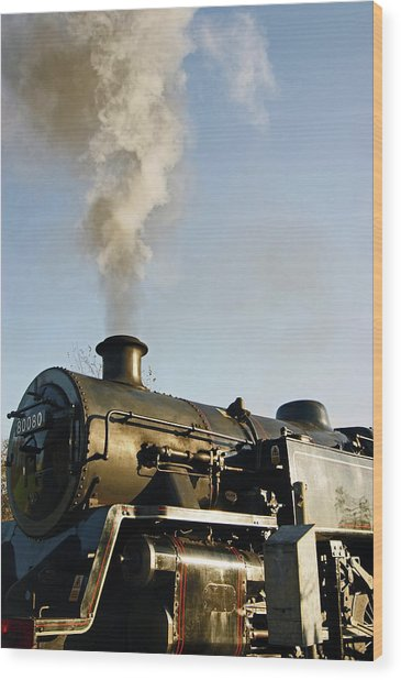 Ramsbottom. East Lancashire Railway. Locomotive 80080. Wood Print