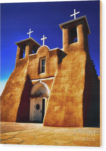Ranchos Church  Xxxii Wood Print
