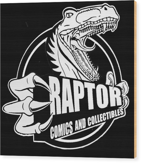 Raptor Comics Black Wood Print