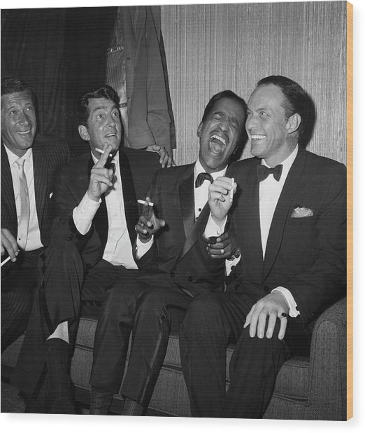 Rat Pack At Carnegie Hall Wood Print