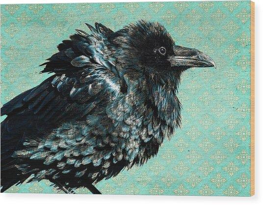 Raven Maven Wood Print