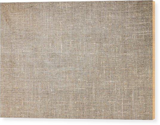 Raw Natural Linen Wood Print