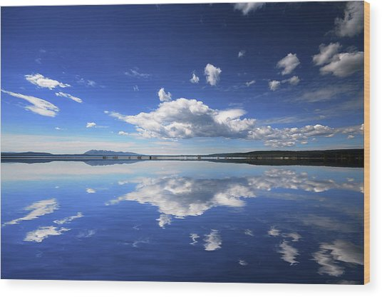 Real Illusions Reflections Wood Print by Philippe Sainte-laudy Photography