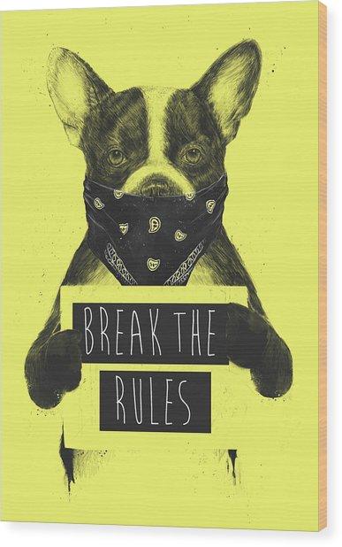 Rebel Dog II Wood Print