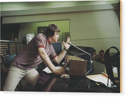 Recording Pet Sounds Wood Print by Michael Ochs Archives