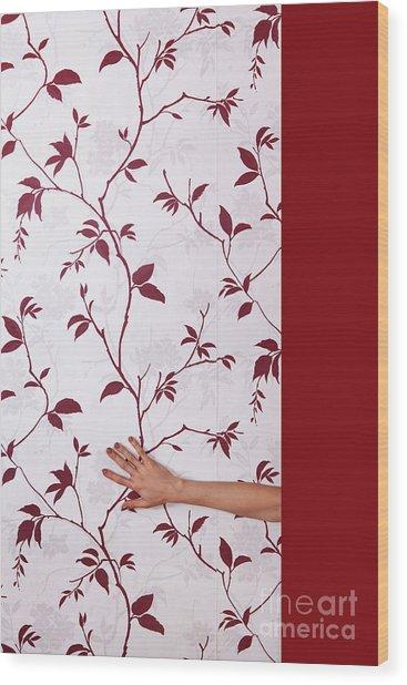 Red #0586 Wood Print