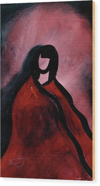 Wood Print featuring the mixed media Red Blanket by Lucas Boyd