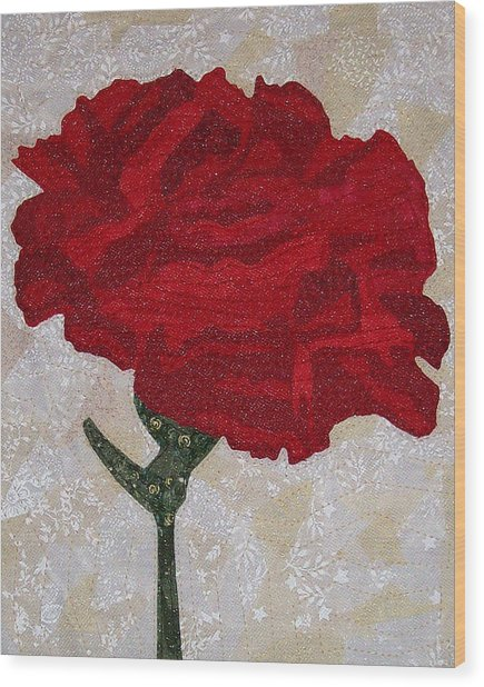 Red Carnation Wood Print