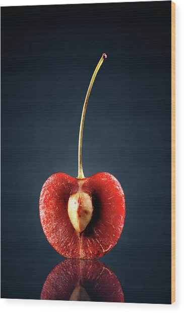 Red Cherry Still Life Wood Print