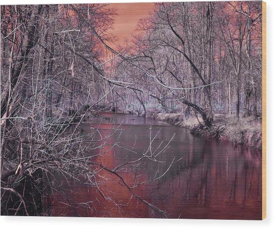 Red Creek Wood Print