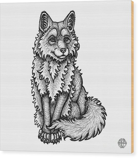 Red Fox Wood Print