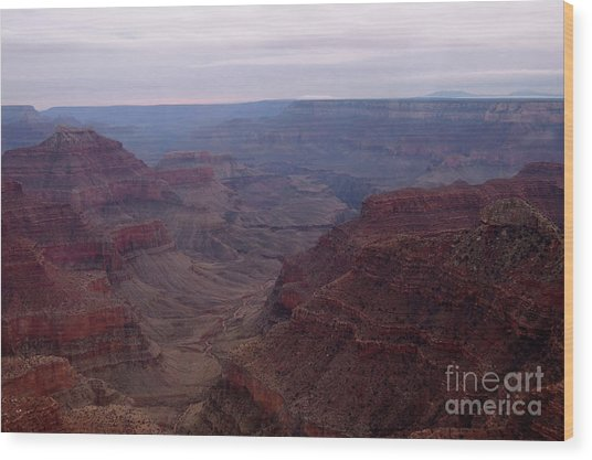Red Grand Canyon Wood Print
