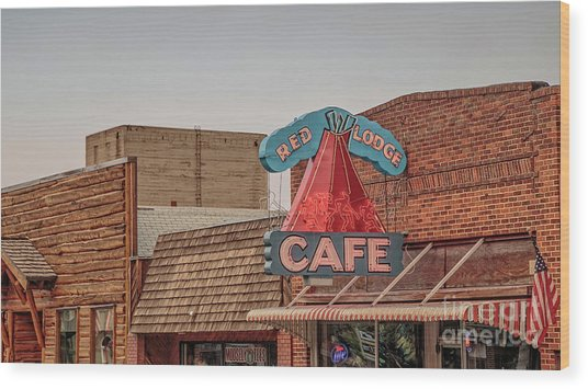 Red Lodge Cafe Montana Wood Print