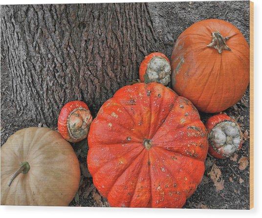 Red Orange Wood Print by JAMART Photography