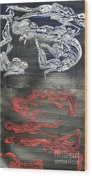 Red Strangles White Cells Wood Print