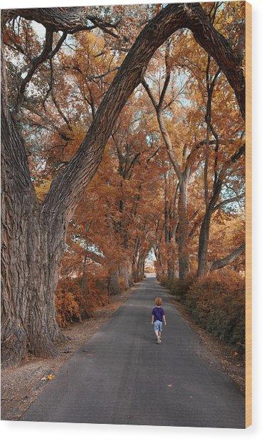 Redhead Fall Walkabout Wood Print