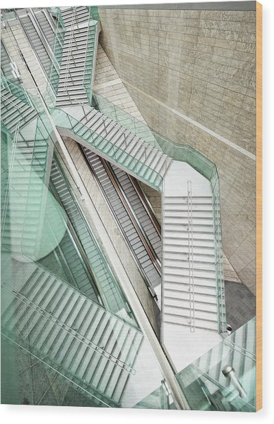 Reflected Modern Architecture - Winding Wood Print by Georgeclerk