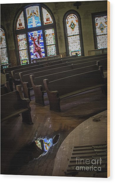 Reflection Of Tears Wood Print