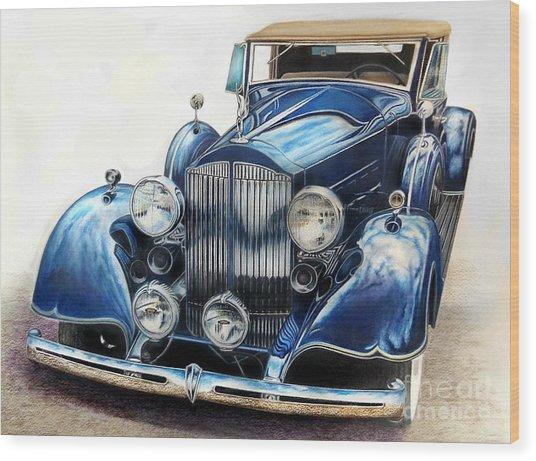 Reflection On Blue Wood Print