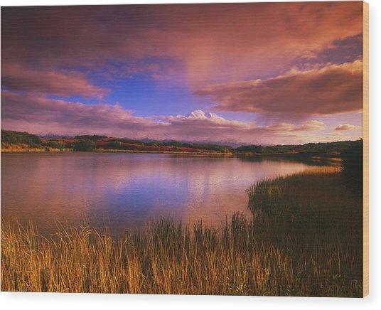 Reflection Pond, Mt Wood Print