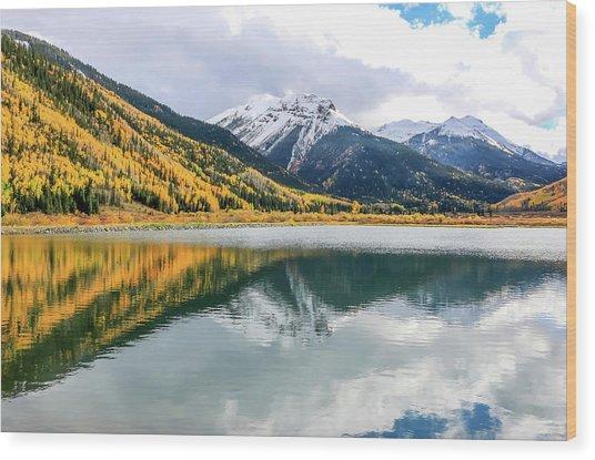 Reflections On Crystal Lake 1 Wood Print