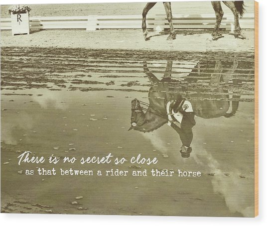 Relaxation Quote Wood Print by JAMART Photography