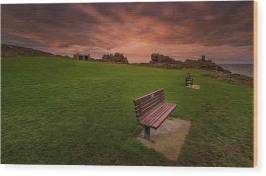 Relaxing At St Ives Cornwall Wood Print