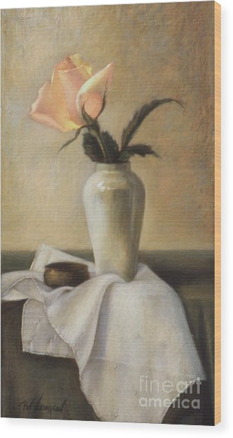 Remembered Rose Wood Print by Pat Thompson