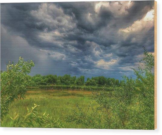 Restless Sky Wood Print