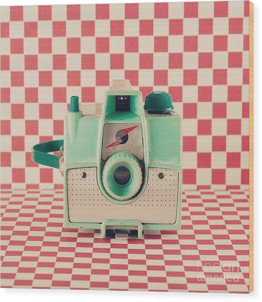 Retro Camera Wood Print