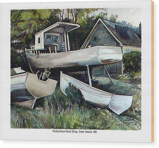 Richardson Boat Shop Wood Print