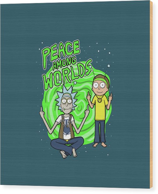 Rick And Morty 2 Wood Print