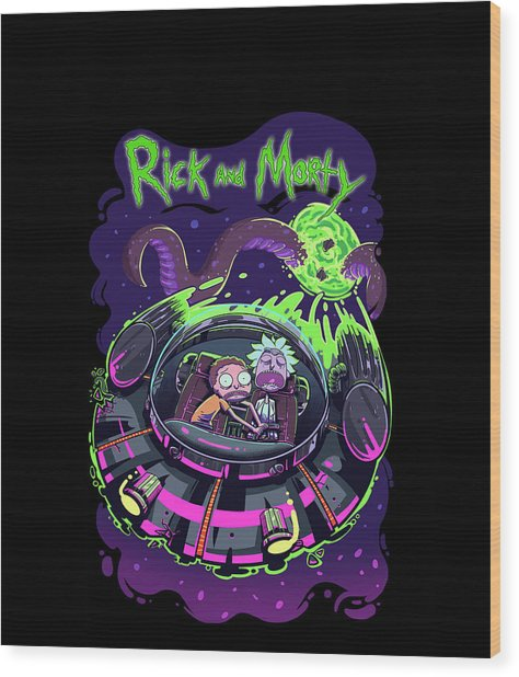 Rick And Morty 3 Wood Print