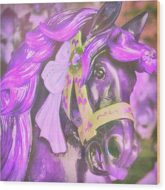 Ride Of Old Purples Wood Print
