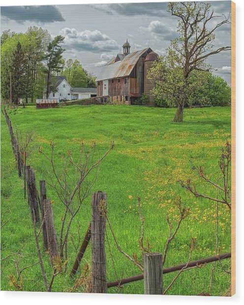 Ridgeway Barn Wood Print