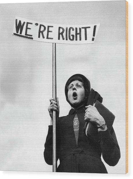 Righteous Wood Print by John Chillingworth