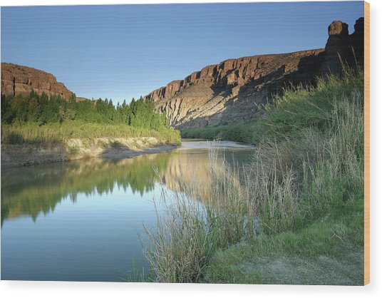 Rio Grande Morning Wood Print by Ericfoltz