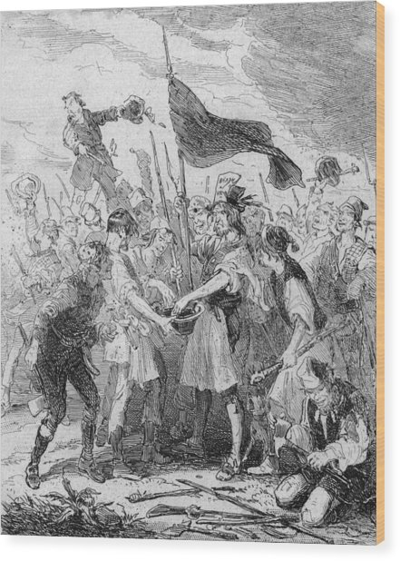 Rioters Bloody Hands Wood Print by Hulton Archive