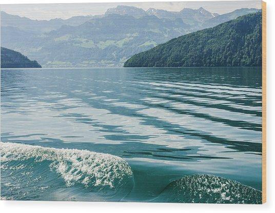 Ripples On Lake Lucerne Wood Print