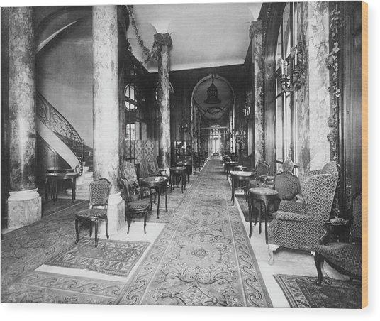 Ritz Interior Wood Print by H. C. Ellis