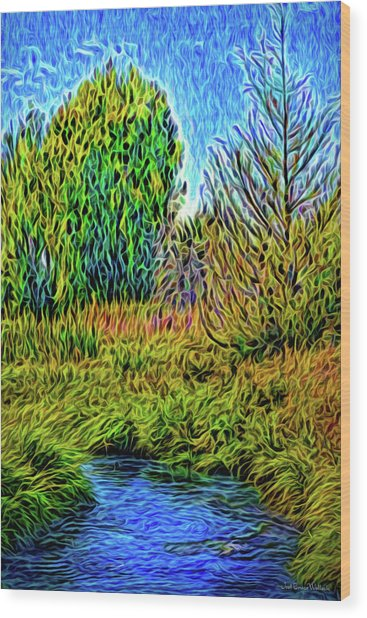 River Aura Melody Wood Print