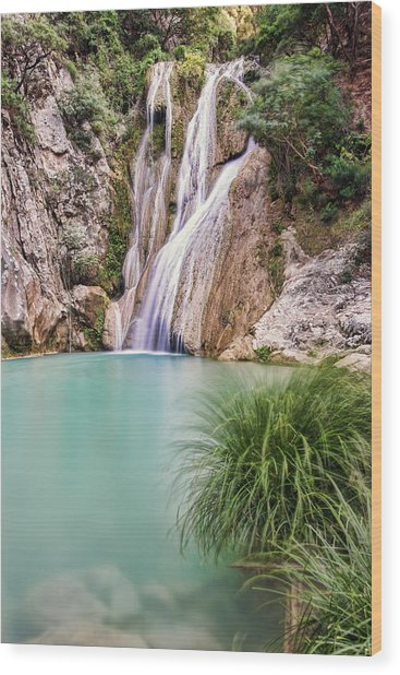 River Neda Waterfalls Wood Print