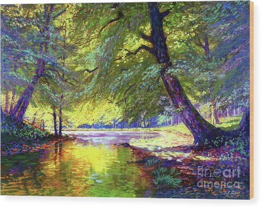 River Of Gold Wood Print