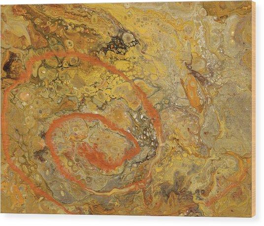Riverbed Stone Wood Print