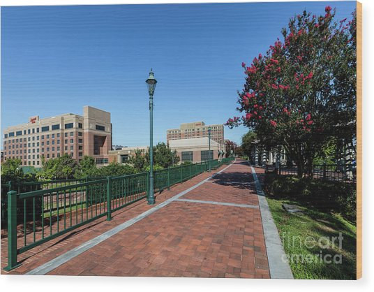 Riverwalk Downtown Augusta Ga Wood Print