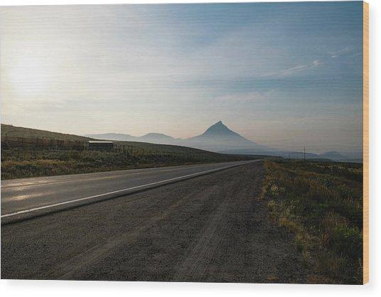Road Through The Rockies Wood Print