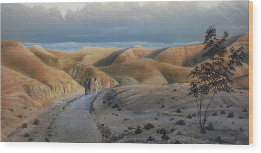 Road To Emmaus Wood Print