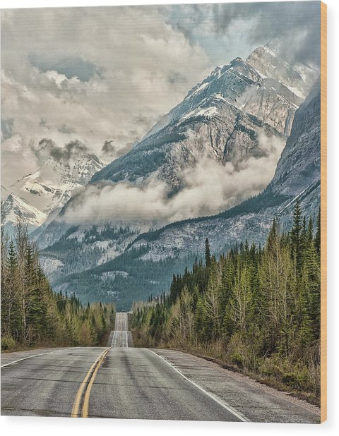 Road To The Clouds Wood Print by Jeff R Clow