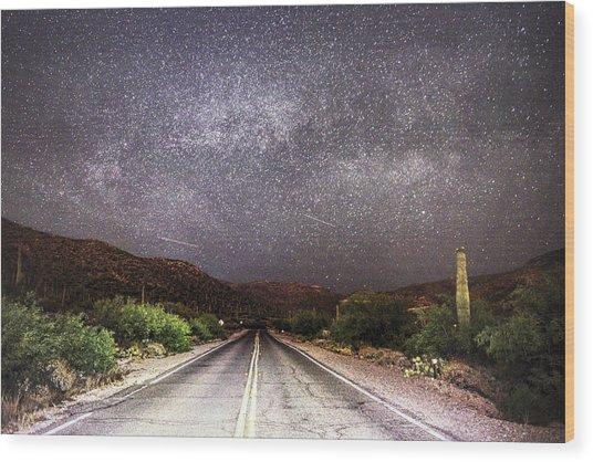 Road To The Stars Wood Print
