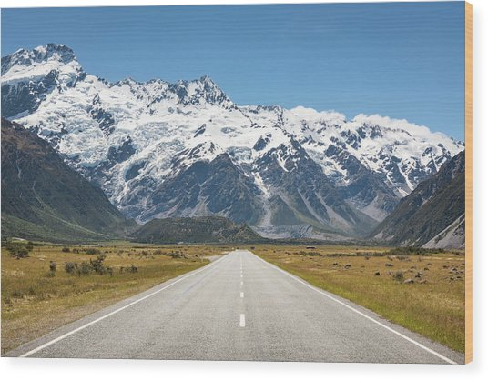 Road Trip In The Southern Alps Wood Print